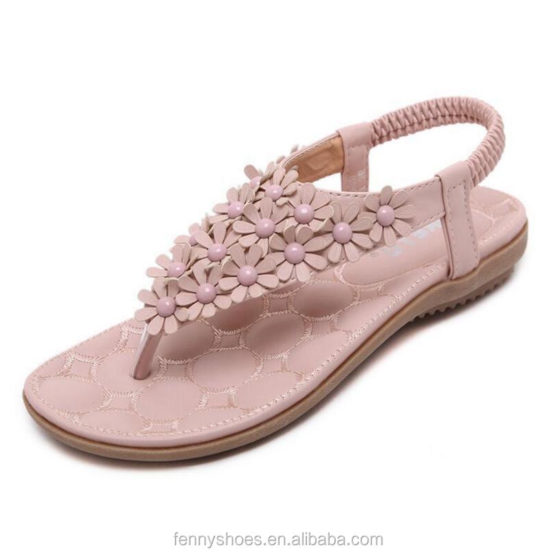 2a46c61bb720 Beach Flower Thong Sandal Wholesale