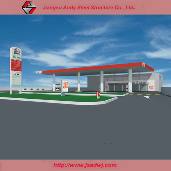 Gas station prefab steel roof structure