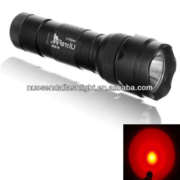 UltraFire WF-502B <strong>CREE</strong> Q5 Red Light LED Flashlight (1x18650)