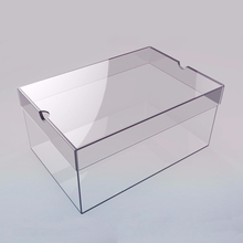 Customized high quality nike acrylic glass transparent shoe box