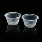 Chinese fresh mixed fruit cup disposable plastic clear round salad jelly bowl