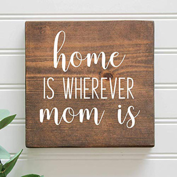 Mom Is Rustic Wooden Farmhouse Sign