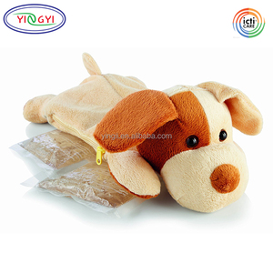 F484 Zippered Comfort Friends Cartoon Animal Hot Cold Packs Plush Puppy Cover Animal Pack