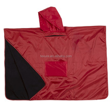 Multifunctionele 3 in 1 Volwassen Waterdicht Hooded Poncho Deken met Polar <span class=keywords><strong>Fleece</strong></span> Voering