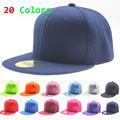 2016 Wholesale Fashion Casual Unisex Pure Color Flat Brim Hat Bone Hats Hip hop Cap Blank
