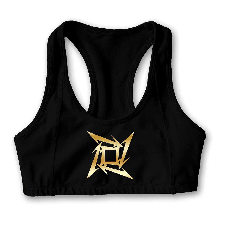 Metallica Star Gold Logo Women's Oxjwn Yoga Sports Bra