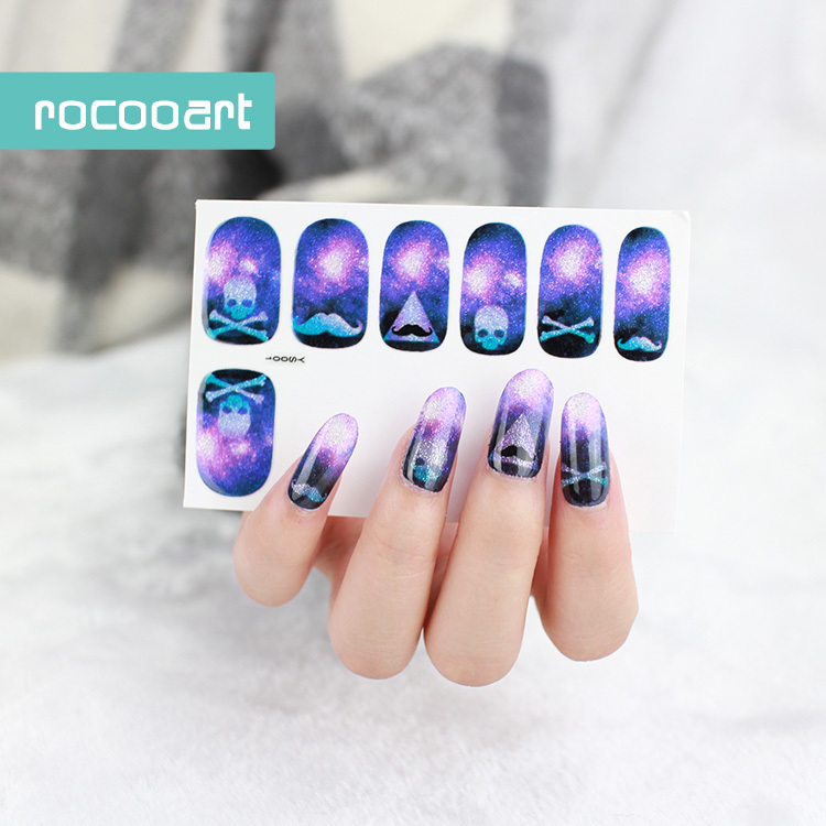 New Arrival 2017 Star Foil Nails Art Sticker Mystery Galaxies Design ...