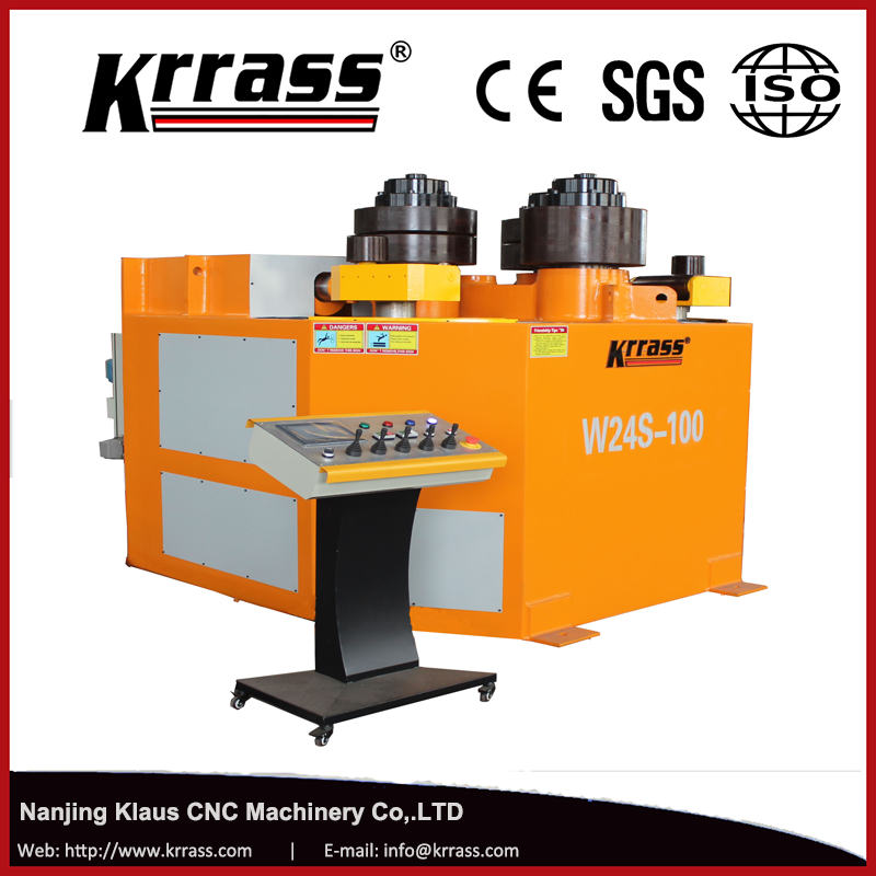 Krrass Brand W24-25 Model hydraulic Profile rolling pipe bending machine