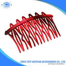 Beautiful plastic hair comb,fashion hair accessories