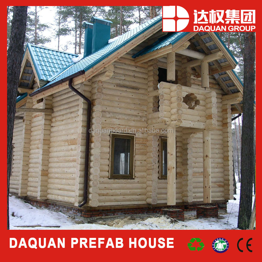 2015 China prefabricated wooden log house/container house/preafab house