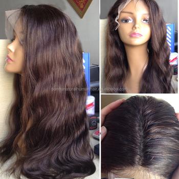 silk base human hair lace front wig virgin peruvian body wave hair wigs  dark brown cheap 735a5a48c0a8