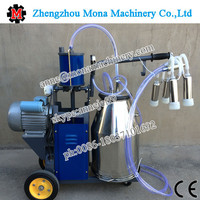 Newest type automatic portable piston pump milking machine