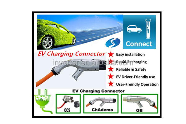 EV charging station with CHAdeMO, SAE Combo,ccs plug