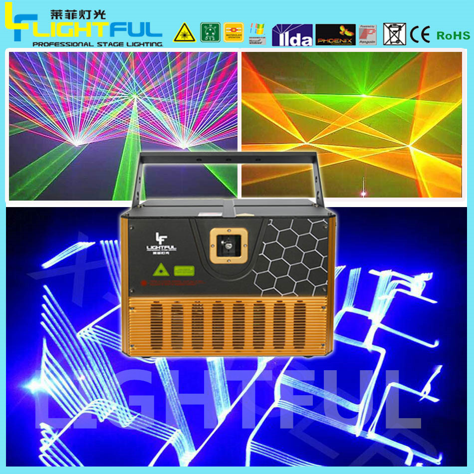 proffesional laser LCD display 5w rgb laser lights programmable laser projector