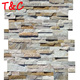 beige 5 strips 150x600mm wall slate exterior slate wall cladding