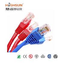 high quality lan cable utp cat5e rubber jacket patch cord