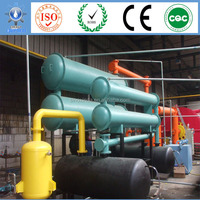 6T Capacity Environmental Waste Plastic Pyrolysis Plant crude oil refinery