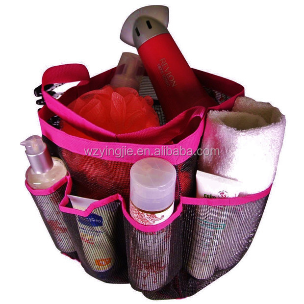 Mesh Shower Tote mesh shower caddy 8 pockets hanging shower tote bath accessory