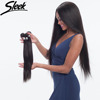 Sleek 7A non Remy Brazilian Hair bundles 100% Human Hair Weave Straight Hair Bundles for new best selling black women