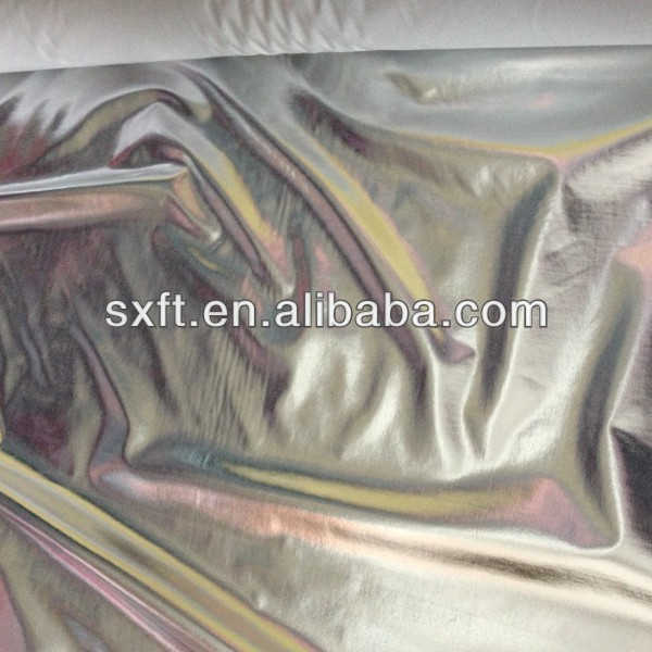 polyester spandex lame fabric