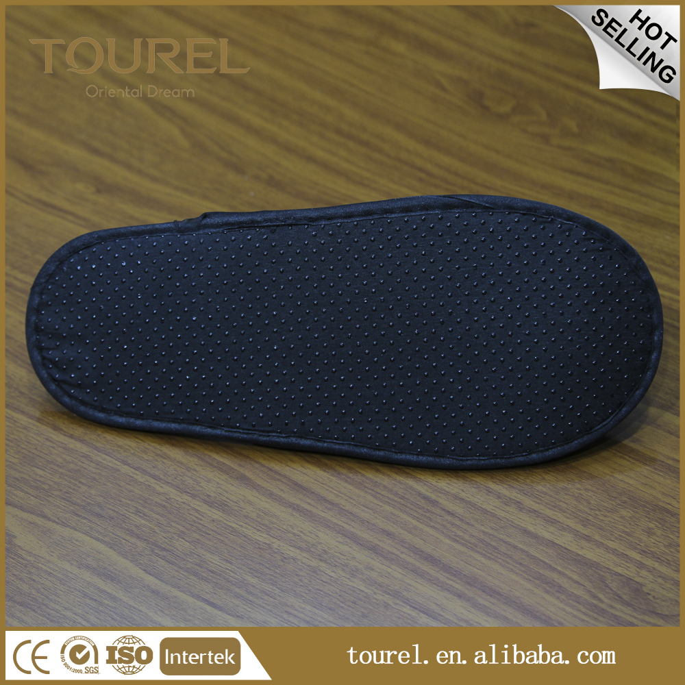 Disposable embroider cotton terry hotel Slippers for 5 Star