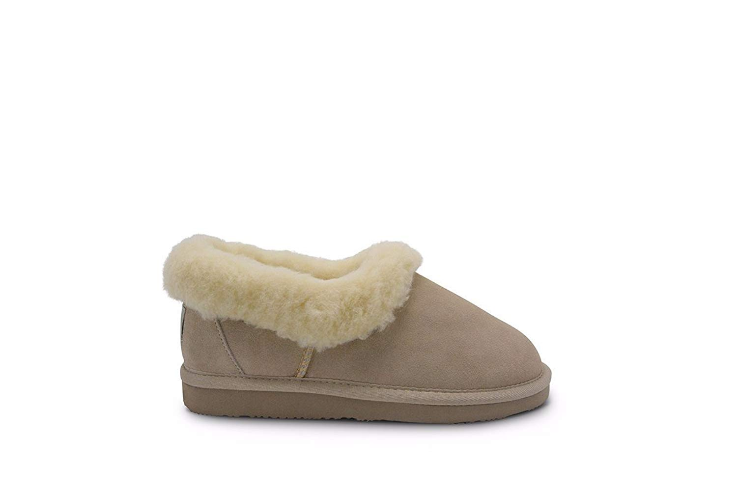 Aussie Merino Fur Lined Wool Slipper Cozy Indoor Warm House Slipper W/Indoor Outdoor Sole-Olivia