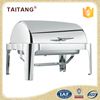 Stainless steel restaurant supply china round chafing dish with glass
