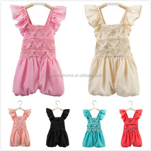 Top quality children clothing jumpsuit fantastic kids romper summer wear backless baby girls jumpsuit M6051402