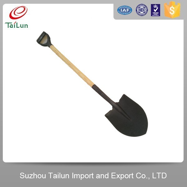 High Carbon Steel Farm Tools Farming Shovel With Wood Handle