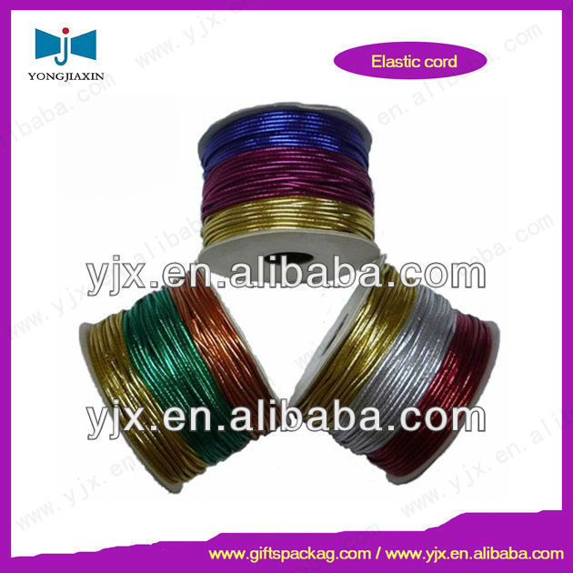 Colored round braided metallic trim cord