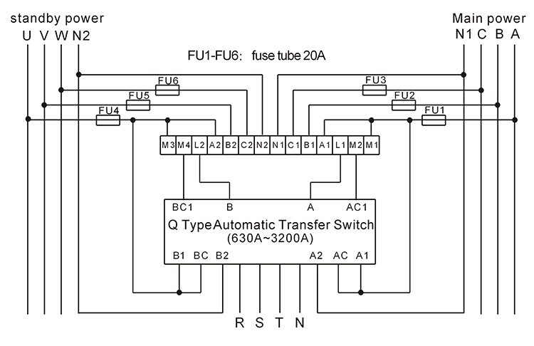 Wiring Diagram For Auto Transfer Switch : Automatic transfer switch controller ats control