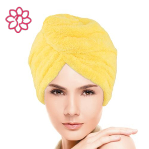 Organic bamboo fiber soft dry hair towel, personalized hair towels