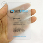 5-color printing machine making clear plastic business card