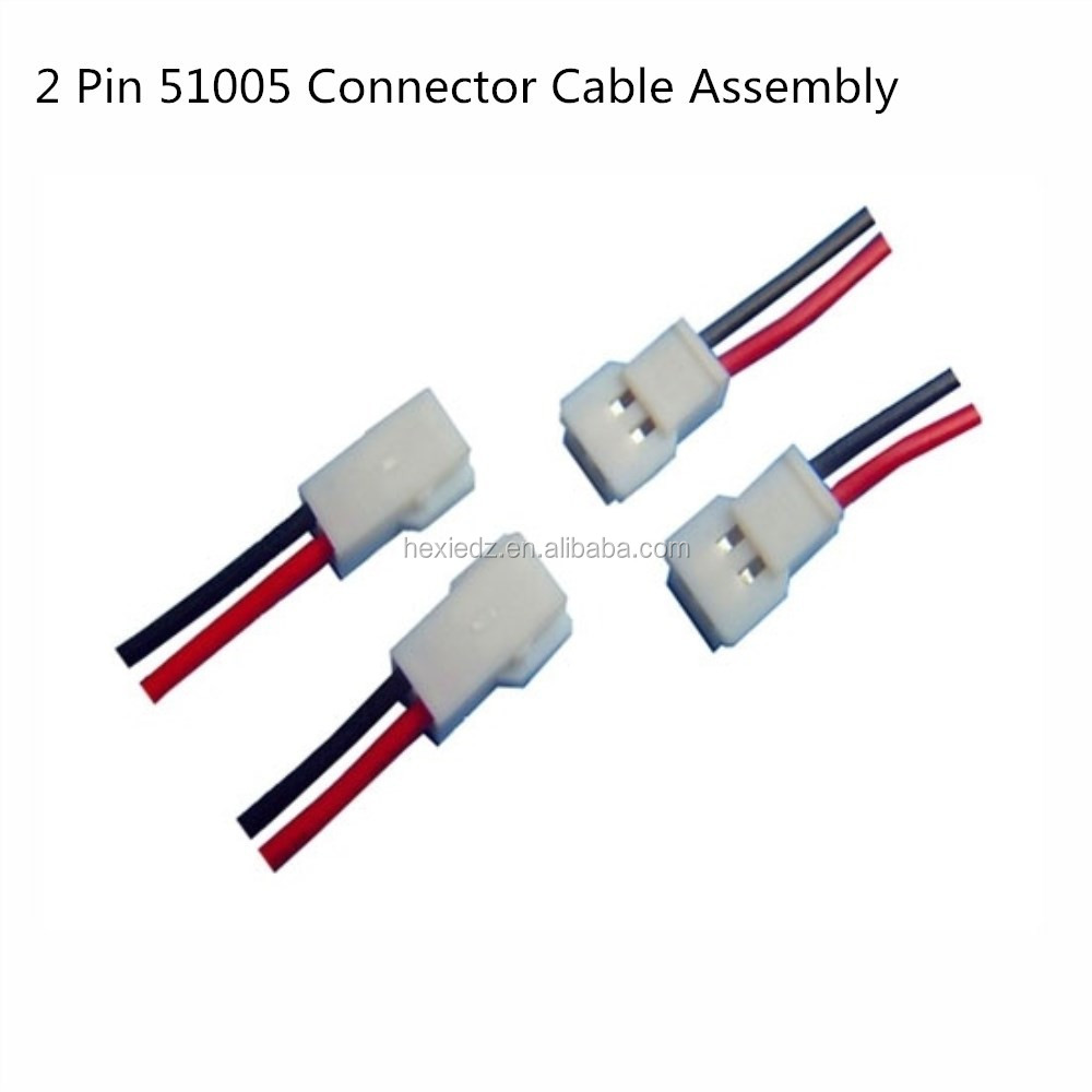 2 pin molex 51005 connector male female cable wire harness buy rh alibaba com Banana Connector Crimp Connection