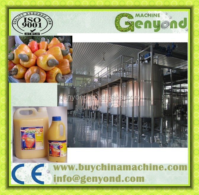 Automatic cashew apple juicing equipment / cashew apple juice process line