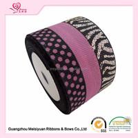 Factory wholesales leopard printed ribbon,zebra striped grosgrain ribbon,celebrate ribbon for packing decorative craft