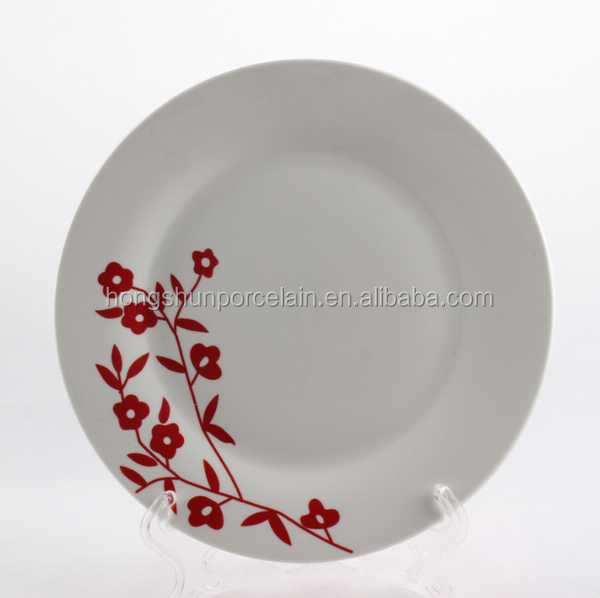oriental ceramic plate/personalized porcelain plates/print on dishes