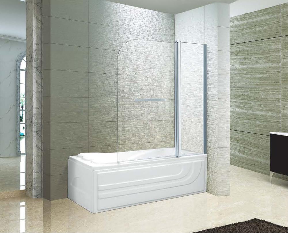 Frameless Pivot Tempered Glass Folding Door Shower Panel Shower Bath