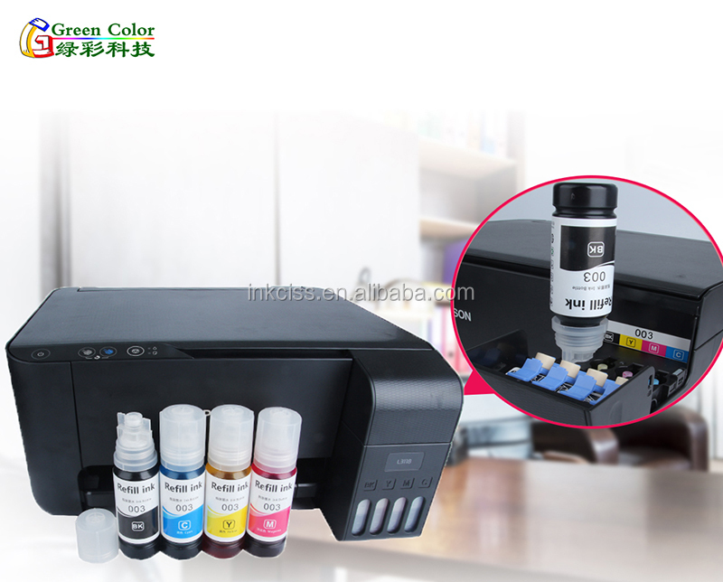 New 003 series water based dye ink suitable for Epson L3110 L3111 L3150 Eco  tank system printers, View New 003 series water based dye ink suitable for