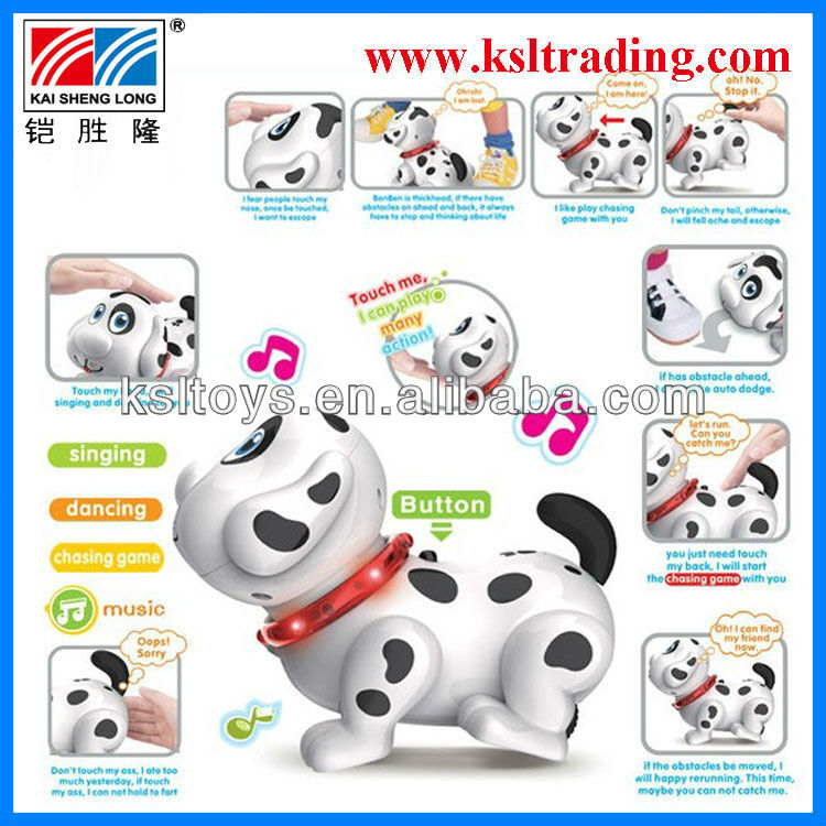 sensor intelligent plastic battery operated dog toy for kids