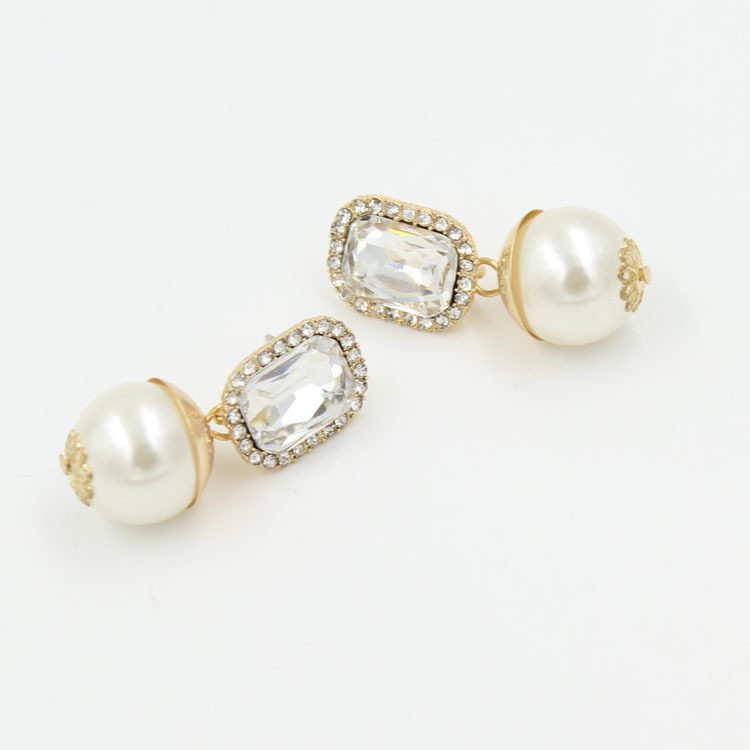 Earring Designs New Model Gold Fashion Pearl