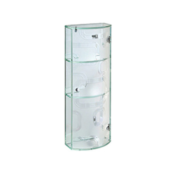 Manufacturer Waterproof Three Layers Chinese Shower Room Transparent Glass  Case Bathroom Shelves