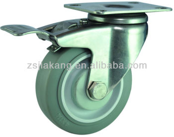 100mm Plastic Rubber Wheel Caster Furniture Castor Swivel