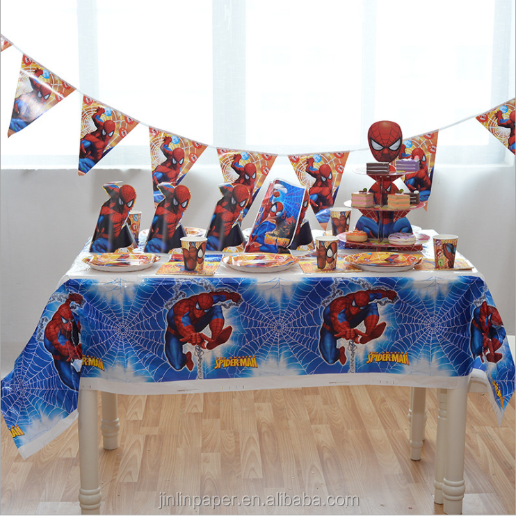 Children plate set birthday party supplies paper plates and napkin sets