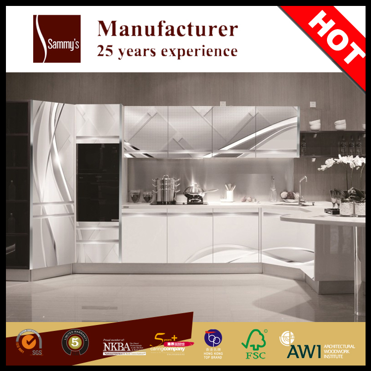 Modern Kitchen Design 3d Frosted Glass Kitchen Cabinet Doors Kitchen Furniture Buy Used