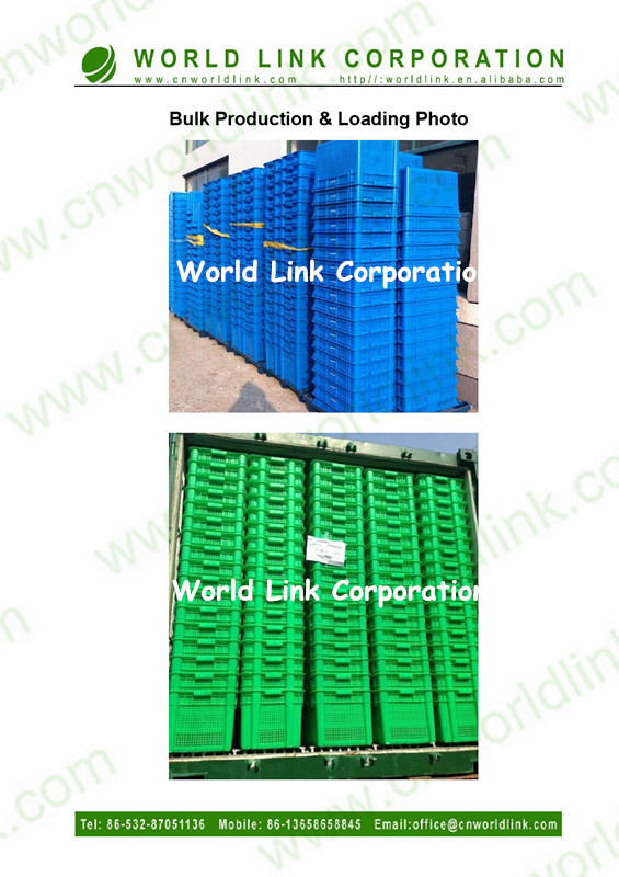 Nesting and Stacking Storage Logistics Plastic Crates for Agricultural