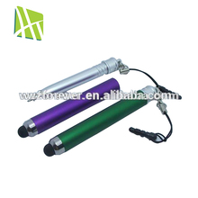 2 in 1 Plastic Rubber Soft Tip Stylus Pen for I Pad 2
