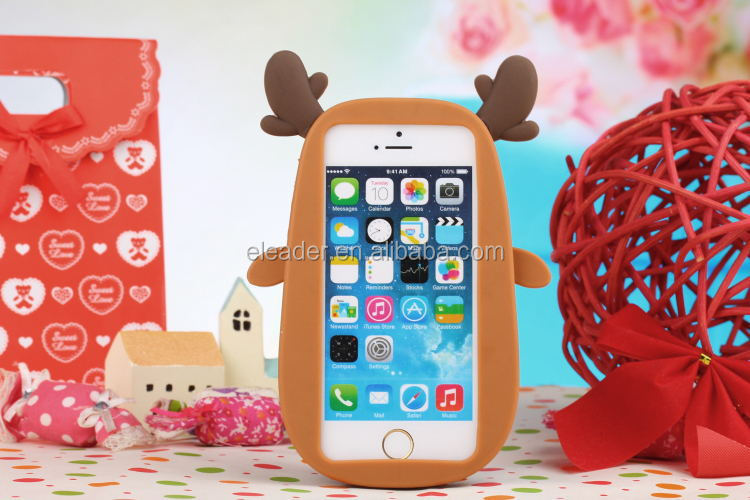 Cute 3d Christmas Animal Case Cover For Iphone 6 Plus - Buy Cute ...