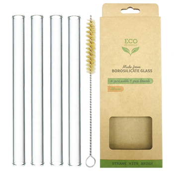 eco friendly Provide Sample drinking glass straw edible straws