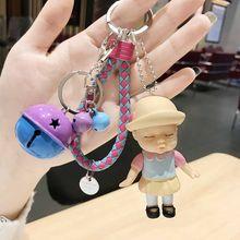 Мини плюшевые животные милый брелок для ключей модные детские плюшевые куклы брелок мягкие брелоки с игрушками детские для девочек и женщи...(Китай)